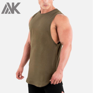 Custom Best Crew Neck 100% Cotton Sleeveless Bulk Mens Sports Tank Top-Aktik