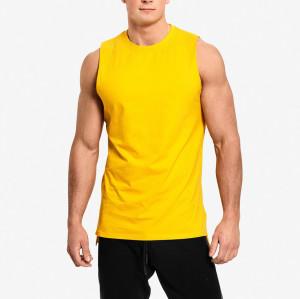 Private Label Wholesale Cotton Crew Neck Sleeveless Mens Muscle Tank Tops-Aktik