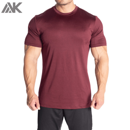 Wholesale Blank Dri Fit Muscle T Shirts Crew Neck Running Shirts for Men-Aktik