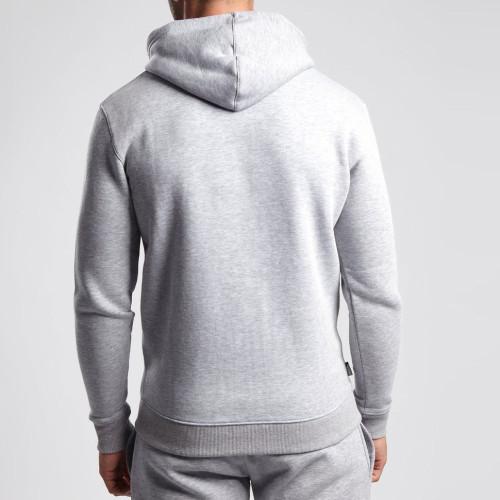 Wholesale Jackets and Hoodies Cotton Fleece Grey Mens Zip Up Hoodies-Aktik