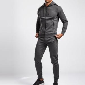 Custom Full Zip Hoodie Cotton Fleece Gym Jacket for Men with Zip Pockets-Aktik