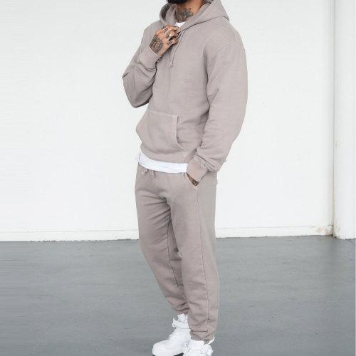 Private Label Wholesale Track Pants Mens Loose Fit Cotton Sweatpants-Aktik