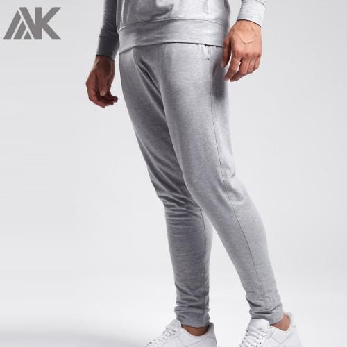 Private Label Wholesale Lightweight Soft Cotton Mens Jogger Sweatpants-Aktik