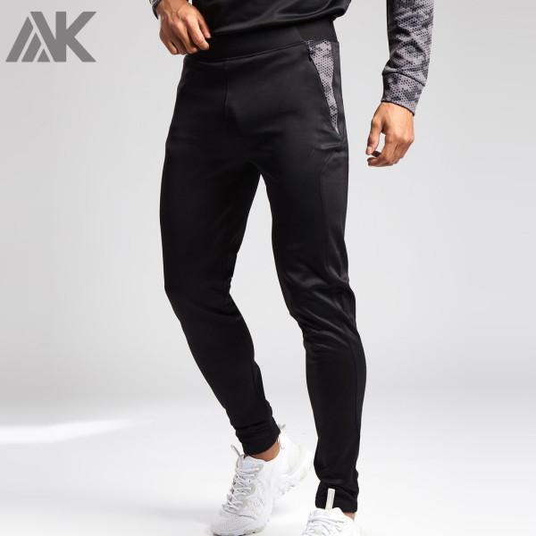 Private Label Custom Mens Slim Fit Jogger Sweatpants with Zip Pockets-Aktik