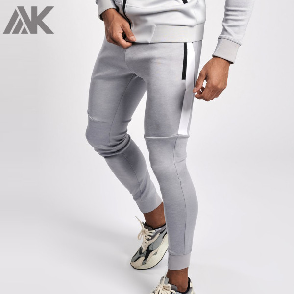 Custom High Waisted Jogger Pants Fitted Mens Tall Sweatpants with Pockets-Aktik