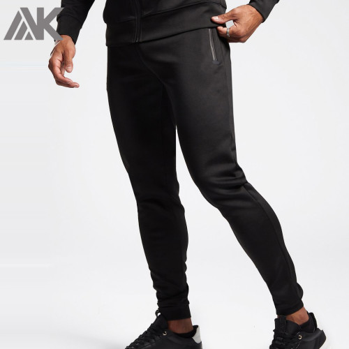 Custom Mens Bulk Track Pants Slim Fit Best Sweatpants with Zip Pockets-Aktik