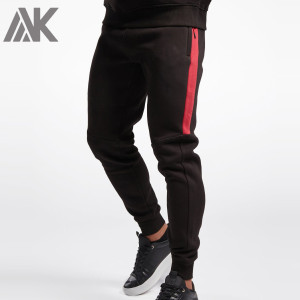 Custom Fitted High Waisted Mens Cotton Fleece Sweatpants with Zip Pockets-Aktik
