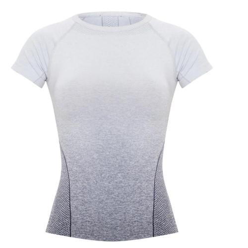 Custom Raglan Crew Neck Seamless Tee Short Sleeve Seamless T Shirt Women's-Aktik