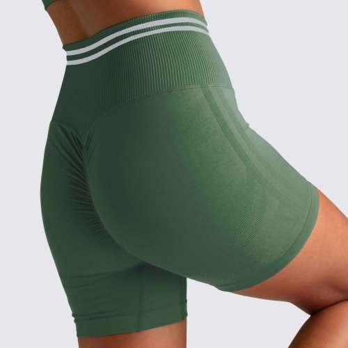 Custom Sports Bra and Scrunch Butt Biker Shorts Seamless Set for Women-Aktik