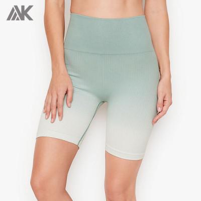 Custom Seamless Activewear Womens Compression Ribbed Seamless Biker Shorts-Aktik