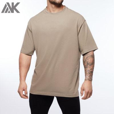 Custom T Shirt Maker Crew Neck Cotton Oversized T Shirt Outfit for Men-Aktik