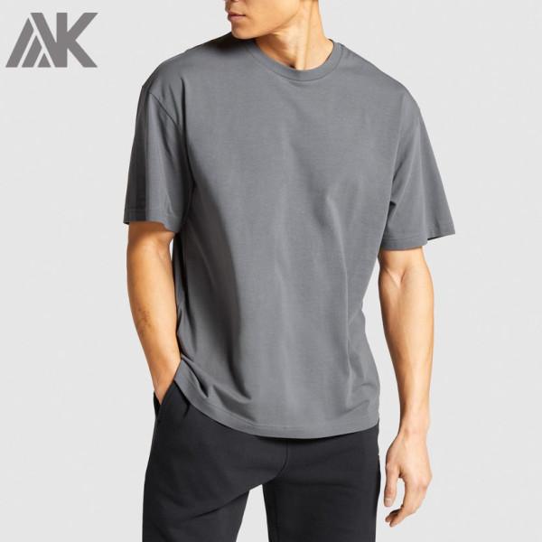 Custom Short Sleeve Crew Neck Cotton Cheap Oversized T Shirt Mens-Aktik