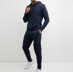 Custom Sweat Suits Cotton Fleece Men Sweatsuits Wholesale with Pockets-Aktik