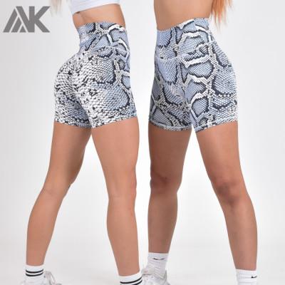 Wholesale High Waisted Bike Shorts Butt Lifter Printed Gym Shorts Women-Aktik