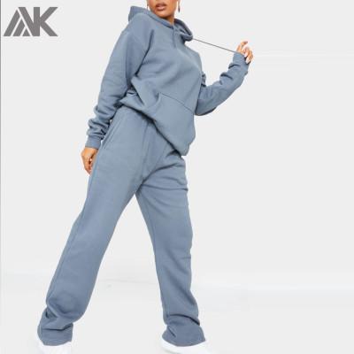 Custom Cotton Fleece Sweatsuits Oversized Matching Womens Tracksuit Set-Aktik