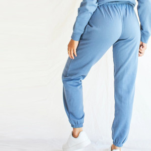 Custom Crew Neck Sweatsuits Cotton Oversized Sweat Outfits for Women-Aktik