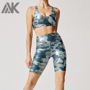 Custom Activewear Wholesale Bodybuilding Biker Shorts Set Gym Apparel-Aktik