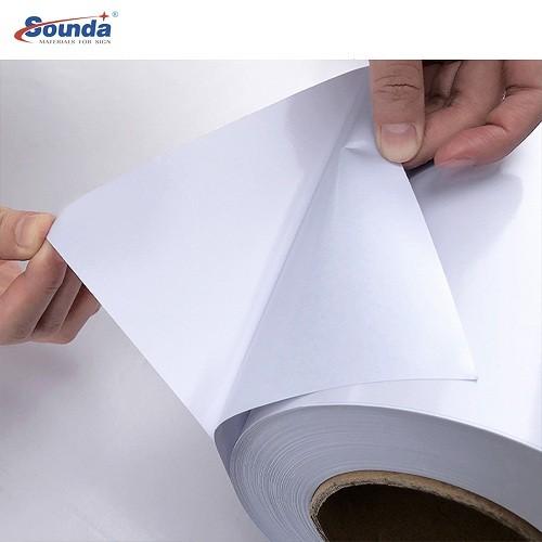 Digital Printing Polymeric Self Adhesive Vinyl PVC Film