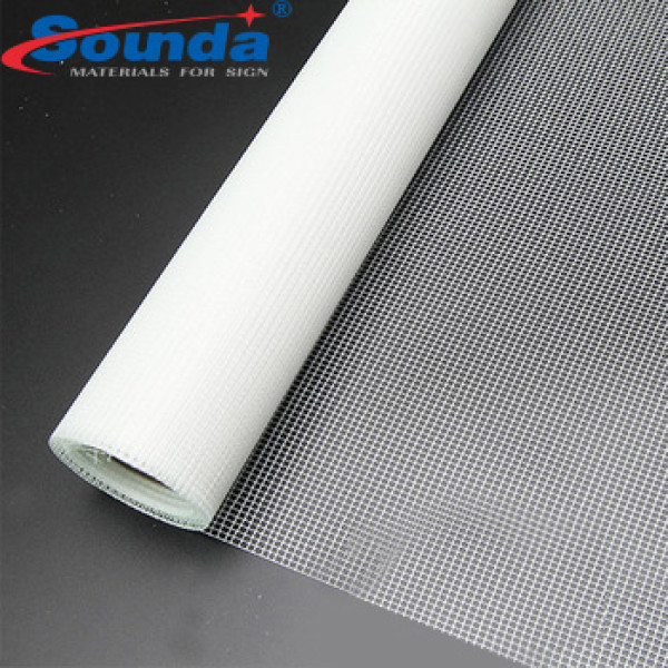 PVC Fabric Mesh Transparent Mesh Banner with free sample
