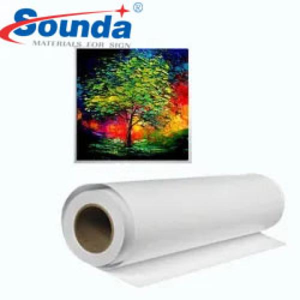 Eco-Solvent Polyester Blank Digital Inkjet Printing Wall Art Canvas