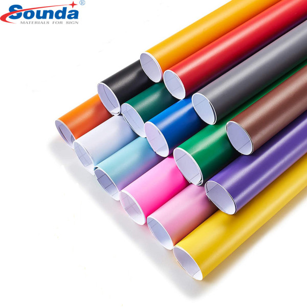 Glossy/Matte Different Colors Vinyl 80mic for Cutting Plotter