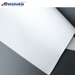 Cold Laminated Frontlit Grey Back Banner For Printing 200x300 18x12 280g