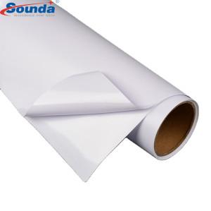 High quality Self Adhesive Vinyl Paper rolls  Digital Printing vinyl for Cars 70micorn 100g