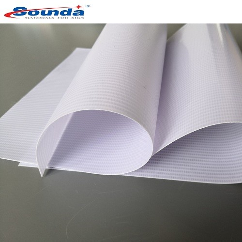High Tensile Tearing Strength Hot Laminated backlit PVC Flex Banner with free sample