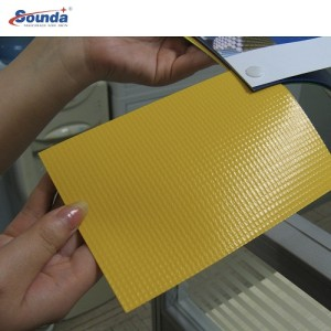22OZ Laminated PVC tarpaulin block out for architectural membranes with free sample