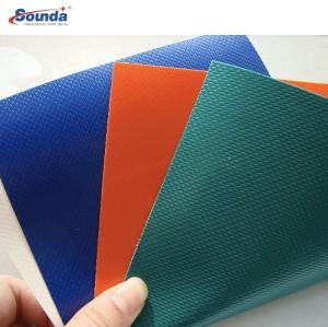 PVC Coated Stripe PVC Tarpaulin Waterproof PVC Tarpaulin Material Awning