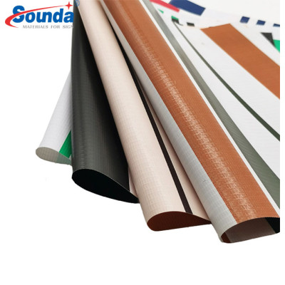 Dark color PVC Coated tarpaulin For tents And Truck Cover Strong Yarn with free sample