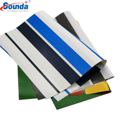 Awnings & Tent Stripe PVC Coated Tarpaulin  with free sample