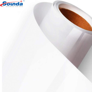 80 micro/120gsm pvc self adhesive vinyl paper rolls with free sample for printing and advertising