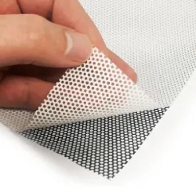 Self adhesive Vinyl One Way Vision | Use Glass Sticker  See Through Vinyl 140 micron 140g  OWV183