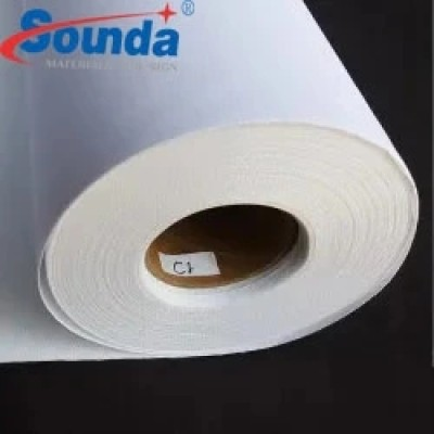 High quality Eco-Solvent Matte Polyester Fabric Fire Resistent Canvas from Sounda