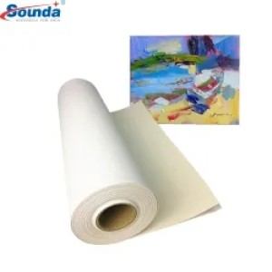 Inkjet  Glossy Non-Woven Canvas Fabric  Sublimation cotton Textile for printing with free sample