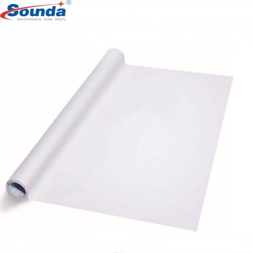 Waterproof Glossy White Self Adhesive Vinyl rolls   PVC Printable Vinyl