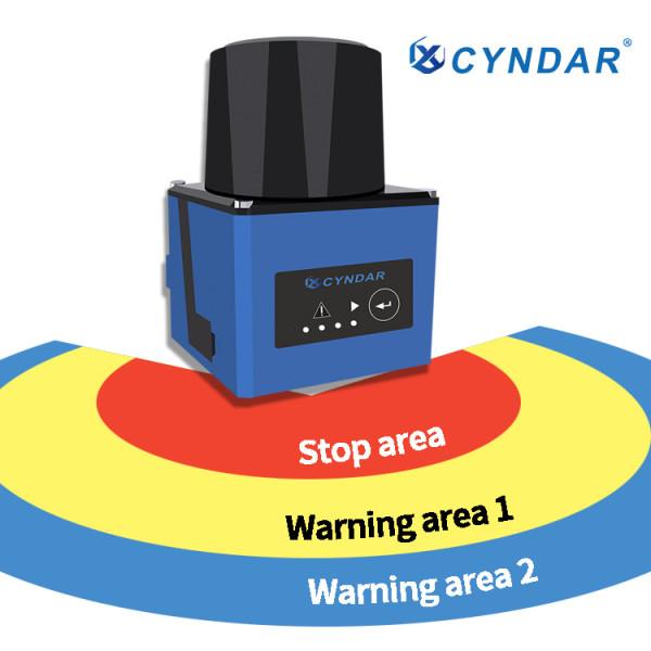 2D infrared laser scanner sensor safety laser scanner with warning area to avoid collision
