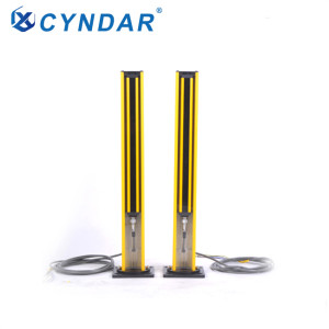 Safety light curtain mirror column equipment column in the area around the dangerous point