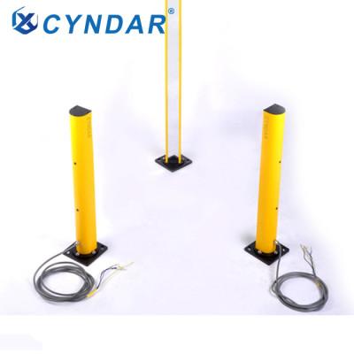Intelligent area protection safety light curtain mirror column equipment column