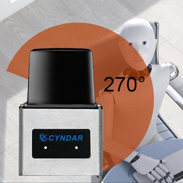 Compact safety laser scanner lidar based navigation for robots
