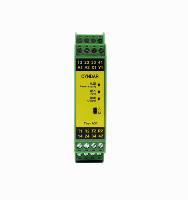 Safety relays used in the automotive industry to turn motors on or off.