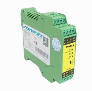 The safety relay can connect and disconnect the control motor.