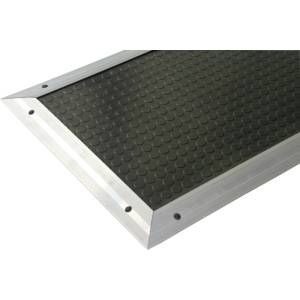 The safety mat is laid on the ground of the workshop to control the operation of the machine.
