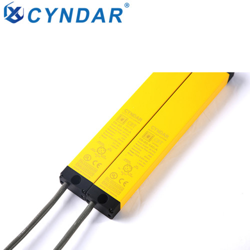 Compact type 4 safety light curtain, suitable for smaller machines and narrow spaces