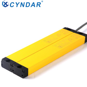Anti interference compact and thin safety light curtain muting sensor area protection