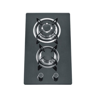 ALK-2301 Tempered Glass 2 Burner Built-in Gas Hob Gas Stove Gas Cooker 30cm