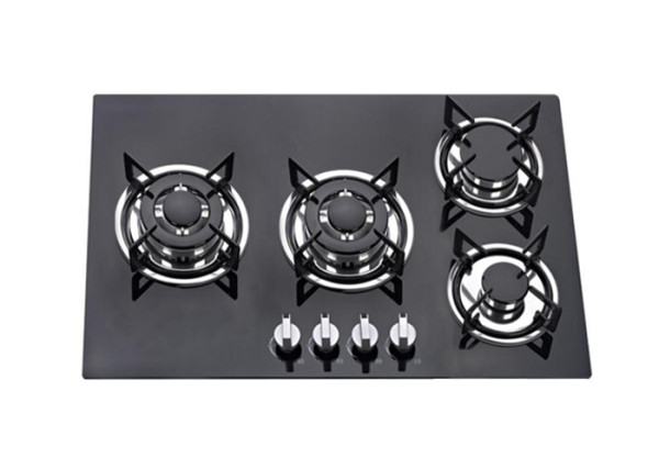 ALK-4508 Fashion Black Tempered Glass Built-in Gas Hob Gas Stove