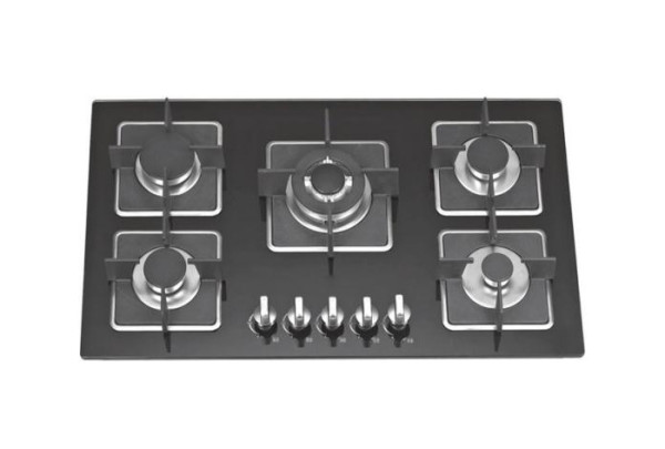 ALK-5807 Tempered Glass Built-in Gas Hob Gas Stove with 5 Burners