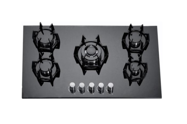 ALK-5809 Tempered Glass Built-in Gas Hob Gas Stove with 5 Burners